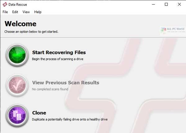 phần mềm cứu dữ liệu DataRescue