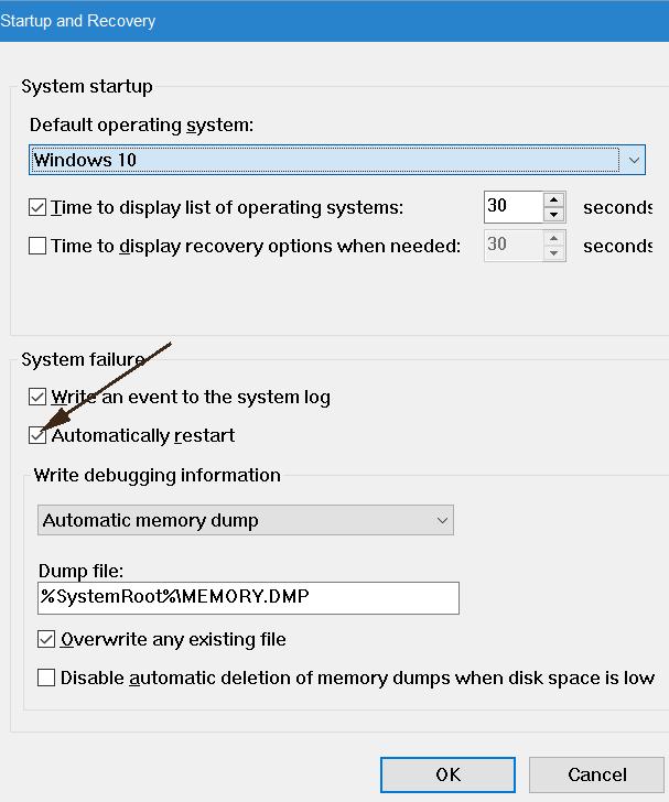 khắc phục máy tính tự restart