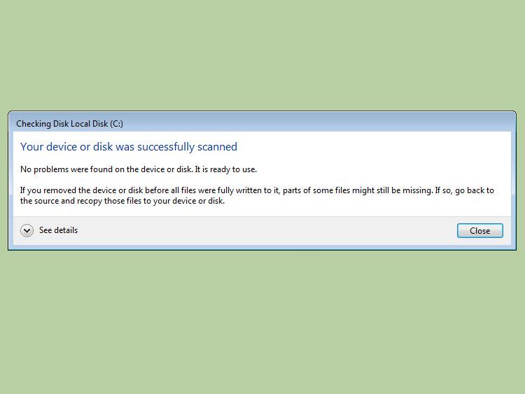 Cách sửa lỗi Bad Sector trên Windows 7 -9
