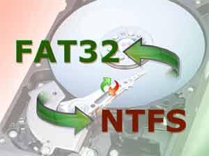 Chuyển đổi NTFS sang FAT32