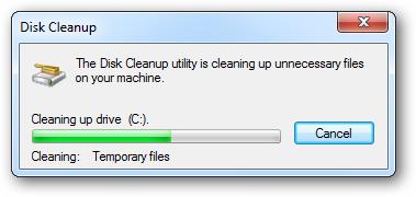 Tăng tốc máy tính disk cleanup