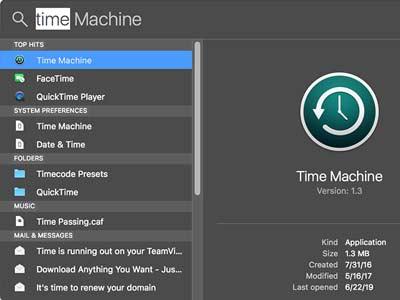 cách sử dụng Time Machine