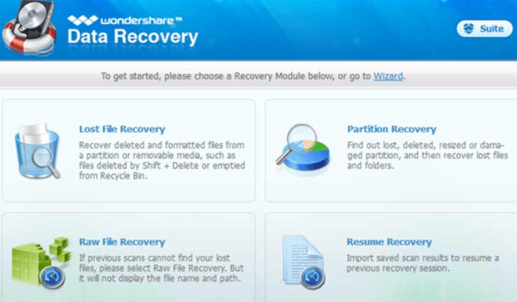 phần mềm Wondershare Data Recovery